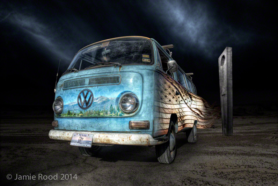 VW Bus Baby Blue - Travel Spirit