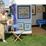 My neighbor Cheryl & her booth