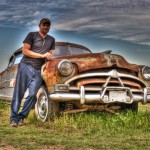 Luke Cork with his favorite car