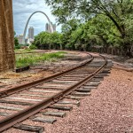 Rails to the Arch by Jamie Rood