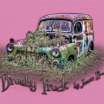 Brushy Truck - Wearable deign - pink background