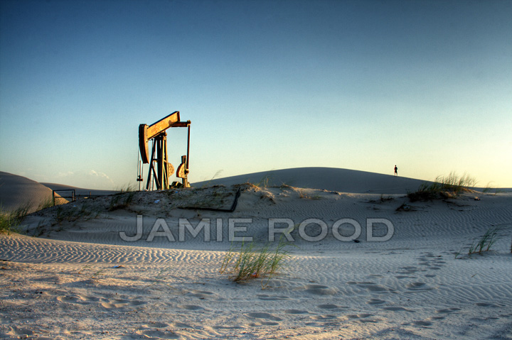Pumpjack on the Dunes - Dad in the Distance
