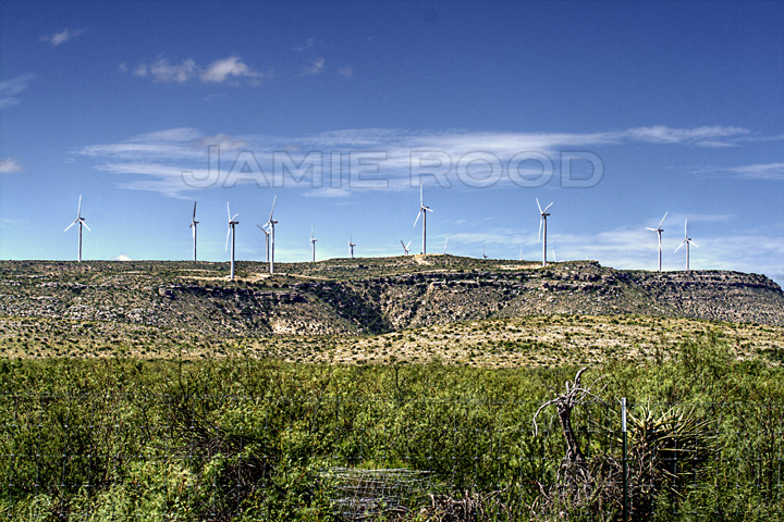 Wind Turbines on a Ridge