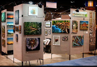 Jamie's Pro Panel setup at the 2009 Spring Home & Garden Show in Austin Texas